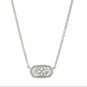 Kendra Scott 14K white gold plated Elisa pendant